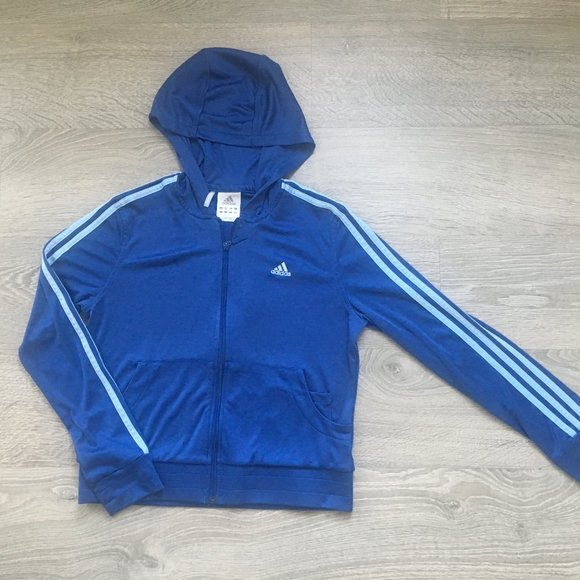 Women Adidas Original Top Blue Track Jacket Size M